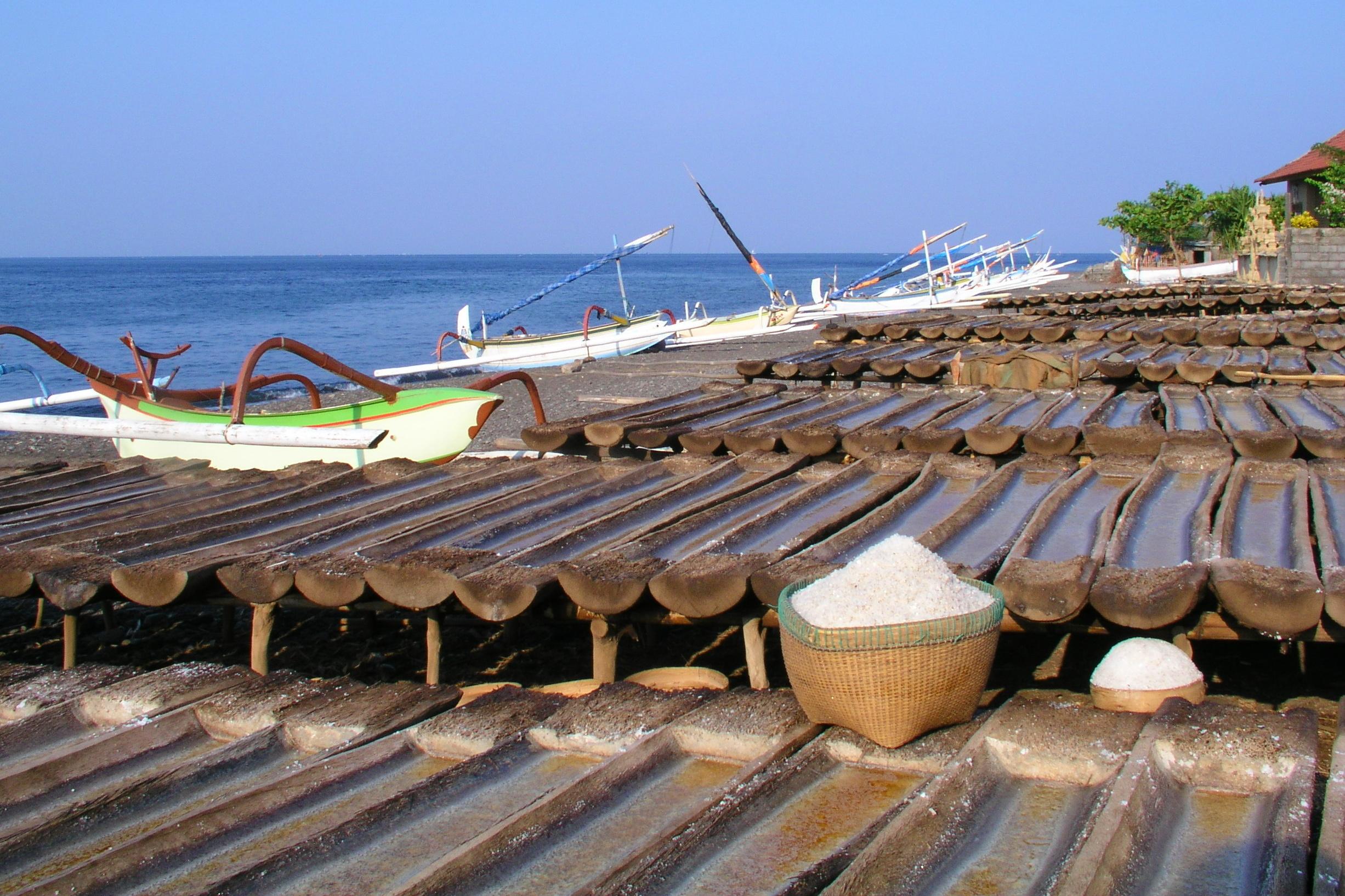 Tradiční získávání soli v Amedu
