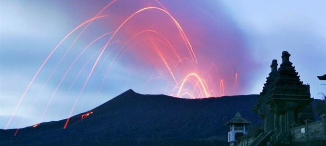 Erupce sopky Bromo na Jávě